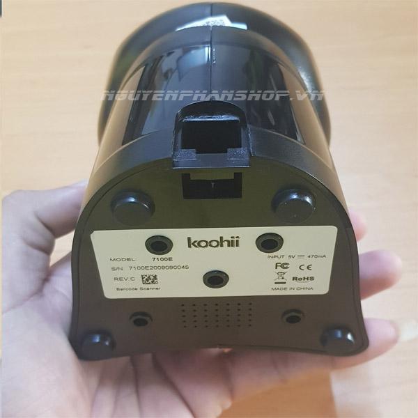 Máy quét mã vạch để bàn Koohii 7100E 2D