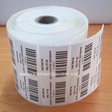 Decal in mã vạch PVC 50x30