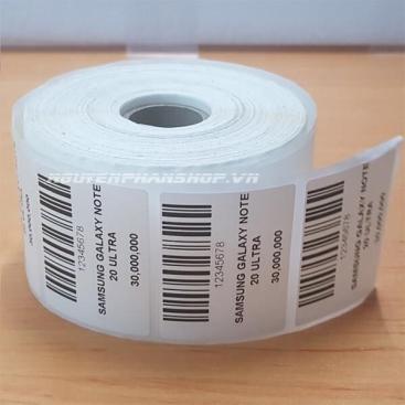 Decal in mã vạch PVC 50x40